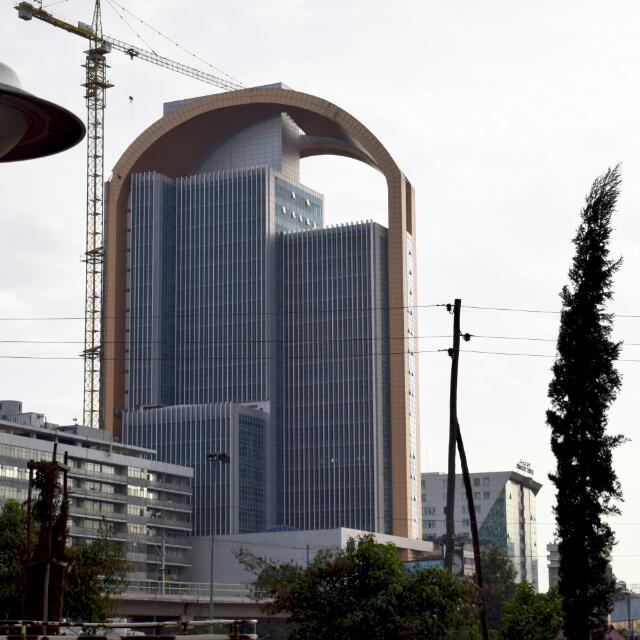 Addis Ababa under construction.