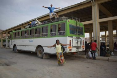 The bus I took back to Ethiopia